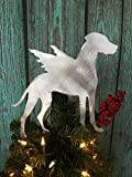 Great Dane with Natural Ears Angel Christmas Tree Topper, Dog Christmas Tree Topper, Wreath Decoration, Holiday Decoration, metal, silver, dog lover gifts