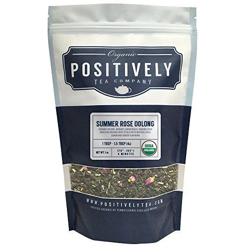 - Positively Tea Company, Organic Summer Rose Oolong, Oolong Tea, Loose Leaf, USDA Organic, 1 Pound Bag