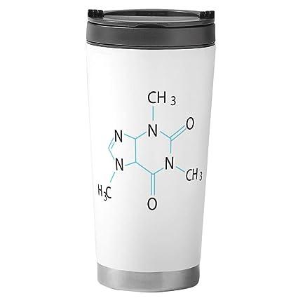 CafePress - Caffeine Molecule Travel Mug - Stainless Steel Travel Mug,  Insulated 16 oz.