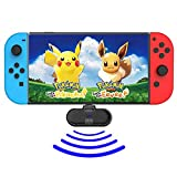 Marval Power Bluetooth Dongle Transmitter Adapter for Nintendo Switch, Free from Headphone Cable, fit for Bluetooth Headphone Device Like Bose Revolve, Echo, AirPods, Bluetooth Speakers etc. (Black)