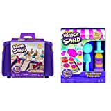 The One and Only Kinetic Sand, Folding Sand Box with 2lbs of Kinetic Sand and Kinetic Sand, Bake Shoppe Playset with 1lb of Kinetic Sand and 16 Tools and Molds, for Ages 3 and Up