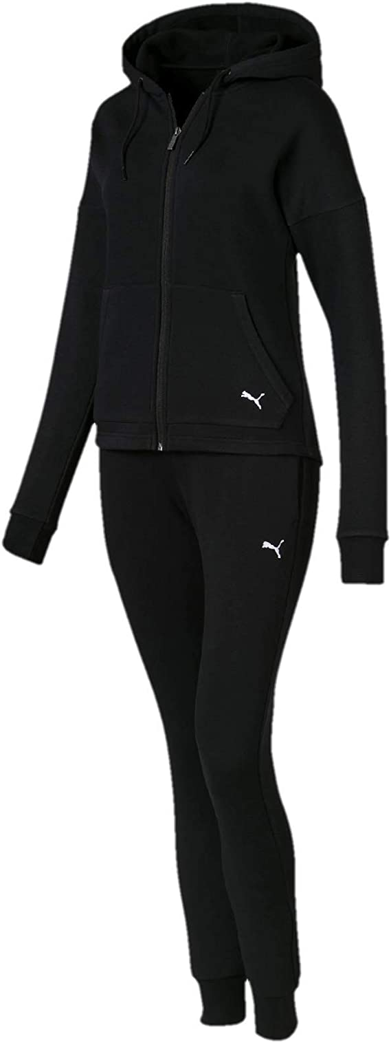 Puma Clean Sweat Suit CL Chándal, Mujer, Negro (Cotton Black), M ...