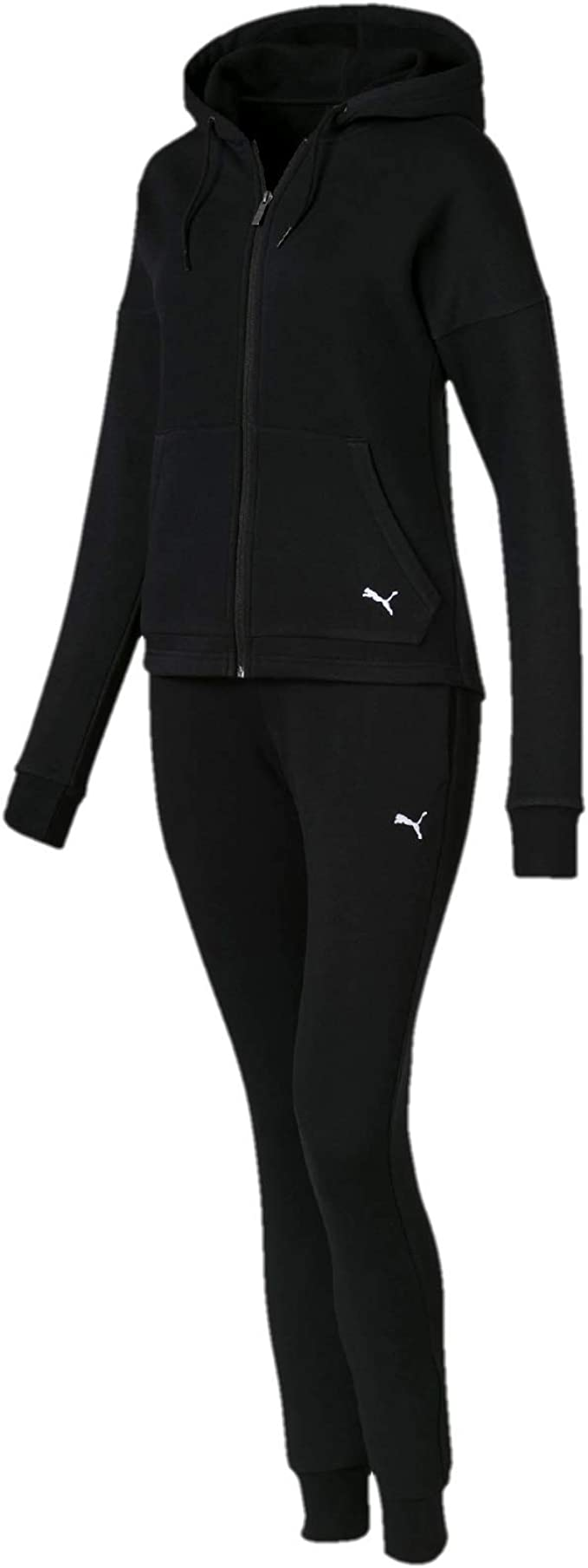 Puma Clean Sweat Suit CL Chándal, Mujer, Negro (Cotton Black), XS ...