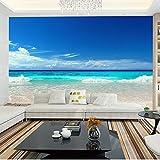 3D Blue Ocean Murals Tv In The Living Room Bedroom Ocean View Background Wallpaper 150cmX100cm