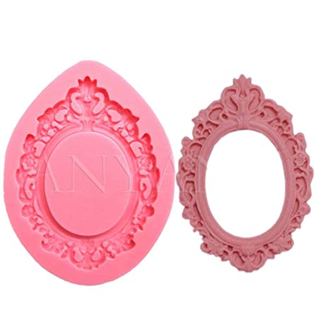 CHOCOLATE ORNATE BAROQUE FRAME SILICONE MOULD FOR CAKE TOPPERS CLAY ETC
