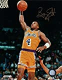 Byron Scott Signed Photograph - 8X10 Autograph Lakers One Handed Dunk Gold Ink w COA - Autographed NBA Photos