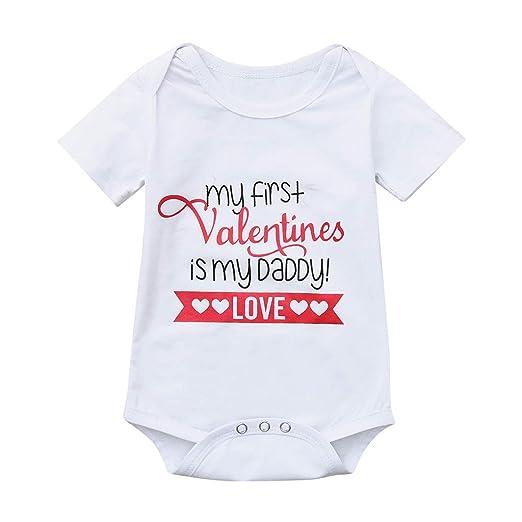 29e4f4e83 Amazon.com  Newborn Baby Jumpsuit Outfit Infant Girl Letter Short ...