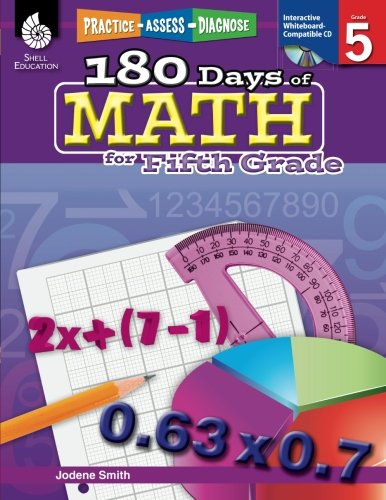 180 Days of Math for Fifth Grade – 5th Grade Problem Solving Workbook, Children's Math Workbook for Grade 5 (180 Days of Practice)