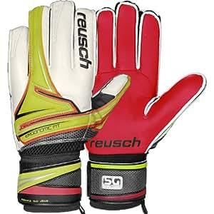 Reusch Argos SG Plus Junior Goalie Glove, Lime/Punch Pink Palm, 4
