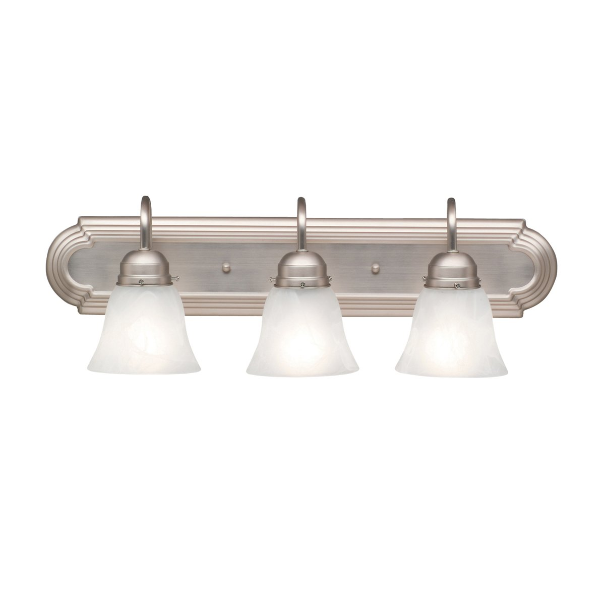 Kichler NI Bath Light Brushed Nickel Vanity Lighting - Brushed nickel bathroom light fixtures sale