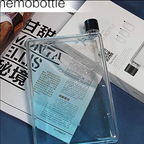 750ML A5 Memo Book Paper Bottle Flat Portable Fruit Water Bottle Water Cup Kettle by CLKjdz