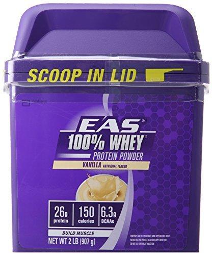 EAS 100% Whey Protein, Vanilla, 2 Pound by EAS