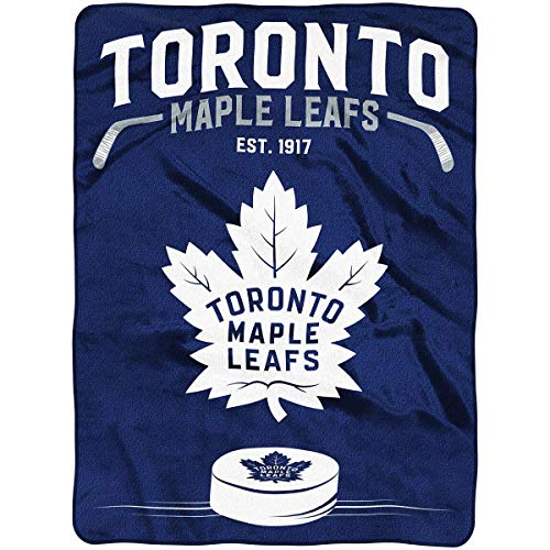 (The Northwest Company Officially Licensed NHL Toronto Maple Leafs Inspired Plush Raschel Throw Blanket, 60