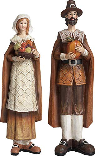 Pilgrim Thanksgiving - Husband and Wife Pilgrims 12 Inch