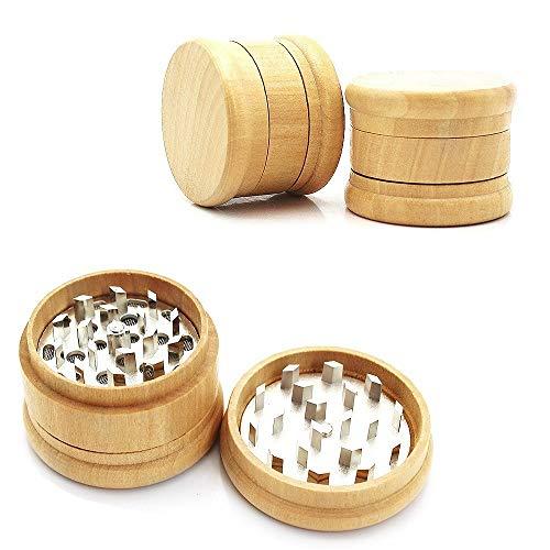 - Wooden Herb Grinder, Classic Herb Grinder Wood, 2.5 Inch Herb Spice Grinders 3 Pieces