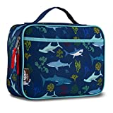 LONECONE Kids' Insulated Fabric Lunchbox - Cute Patterns for Boys and Girls, Shark Bite
