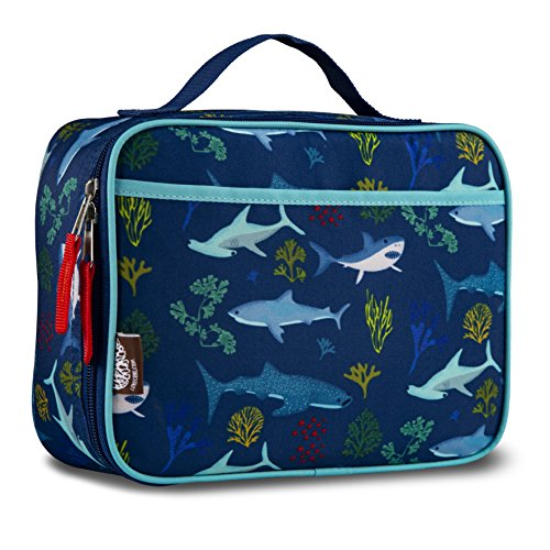 LONECONE Kids' Insulated Fabric Lunchbox - Cute Patterns for Boys and Girls, Shark ()