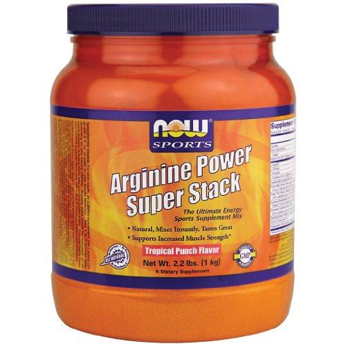 Now Foods Arginine Power Super Stack Tropical Punch Flavor 2.2 lbs. 2 Pack