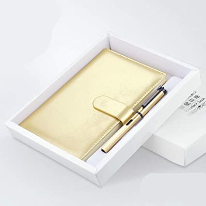 Cuaderno de cuero A5 - Cuaderno de negocios/Bloc de notas + ...