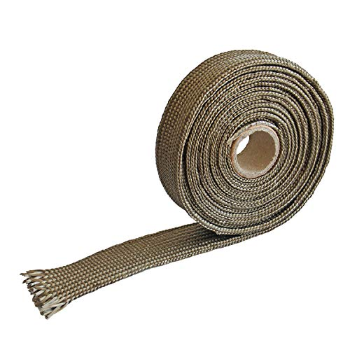 Titanium Fiberglass Heat Sleeve Wrap Wire Shield Fiberglass Adjustable High Temp Colour 10FT-16MM(3/5