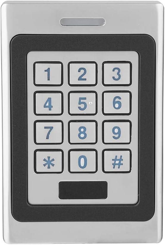 Teclado de Control de Acceso RFID, IP67 Impermeable Control de Acceso de Puerta Contraseña Teclado Independiente con Teclado Retroiluminado Azul para 2000 Usuarios