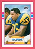 Irv Pankey 1989 Topps Traded Rookie Card (Rams)