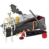 ULTIMATE Black Coffin Casket Playset for WWE Wrestling Action Figures