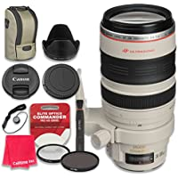 Canon EF 28–300mm f/3.5–5.6L IS USM Lens with Elite Optics Commander Pro HD Series Ultra-Violet Protector UV Filter & Circular Polarizer CPL Multi-Coated Filter - International Version
