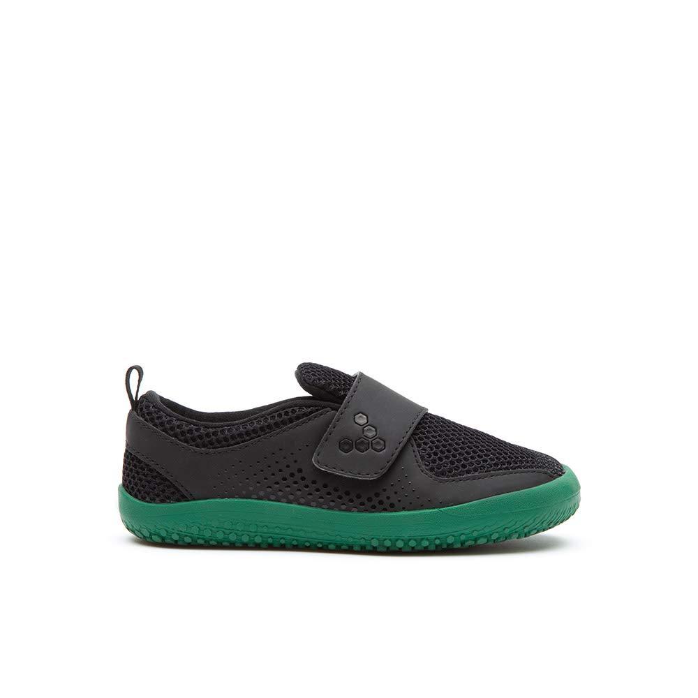 Vivobarefoot Primus Mini Kids Velcro Strap Trainer with Barefoot Sole Black//Green