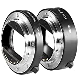 Neewer Metal AF Auto-focus Macro Extension Tube Set 10mm&16mm for Sony NEX E-mount Camera NEX 3/3N/5/5N/5R/A6000/A6300 and Full Frame A7 A7S/A7SII A7R/A7RII A7II