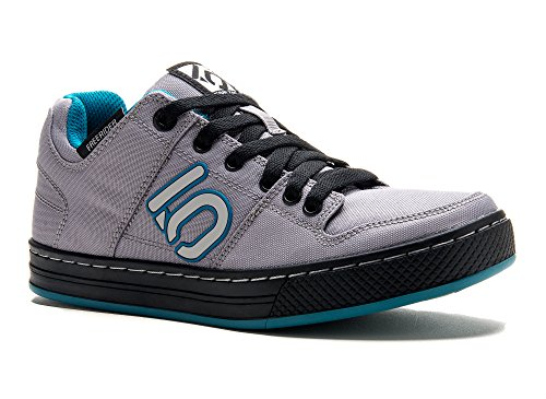 Five Ten Women's Freerider Canvas Bike Shoe, Grey/Teal, 7.5 M US by Five Ten