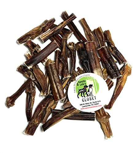 USA Odor-Free Bully Bites for Dogs - 1 LB Rawhide-Free High-Protein Beef Pizzle Dog Chews Made in USA by Sancho & Lola's