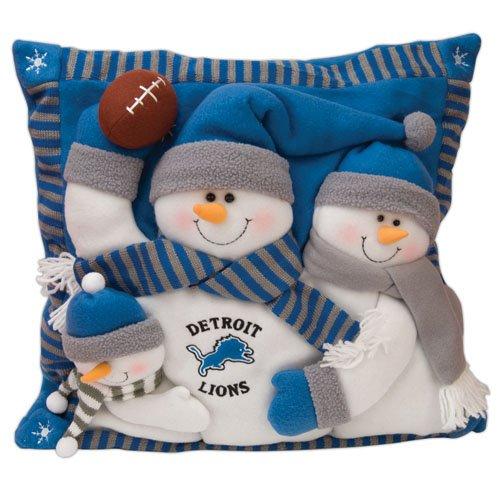 (SC Sports Detroit Lions Snowman Family Pillow)