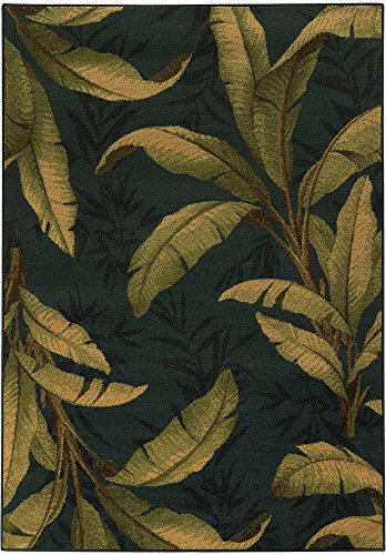 Tommy Bahama Villa Blue/Green Polypropylene Tropical Area Rug (7'10 x 10'10) (Furniture Tommy)