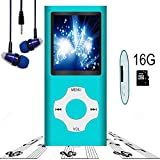 #4: MP3 Player / MP4 Player, Hotechs MP3 Music Player with 16GB Memory SD card Slim Classic Digital LCD 1.82'' Screen MINI USB Port with FM Radio, Voice record