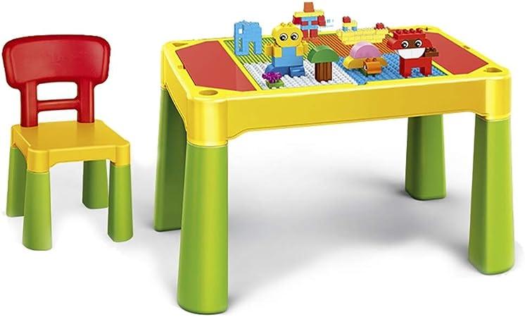 Mesa de Juego Mesa De Madera para Niños Mesa De Juegos Multifunción Juguetes Educativos para Niños Mesa De Estudio para Niños Regalo para Niños (Color : Green, Size : 73 * 47.5 * 48cm): Amazon.es: Hogar