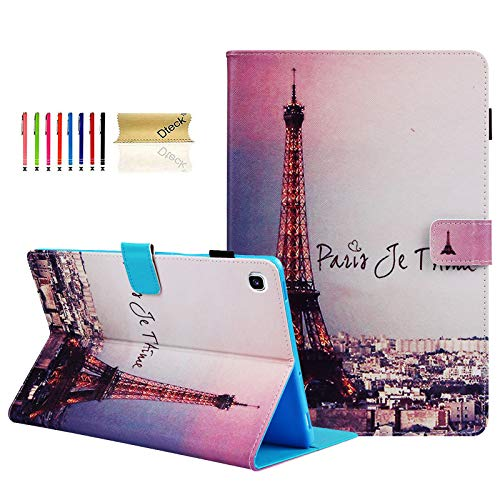 Dteck Folio Case for Galaxy Tab S5e 10.5 - Slim Fit Folding Smart Stand Magnetic Cover with Auto Wake/Sleep for Samsung Galaxy Tab S5e 10.5 2019 Release Tablet (SM-T720/T725), Eiffel Tower