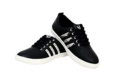 eb0942d493d5 Zeeland Mens Black Stylish Casual Canvas Sneakers with Water strips  Buy  Online at Low Prices in India - Amazon.in