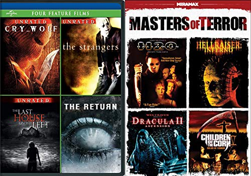8 Unspeakable Horrors Cry Wolf (Unrated), The Strangers (Unrated), Last House on the Left (Unrated), The Return, Halloween: H20, Hellraiser: Inferno, Dracula II: Ascension & Children of the Corn V