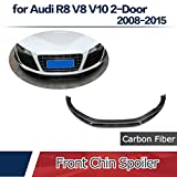 JC SPORTLINE fits Audi R8 V8 V10 2-Door 2008-2015 Carbon Fiber Front Chin Spoiler