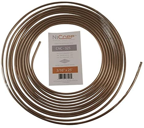 3//16 STEEL BRAKE PIPE COPPER LINED 5 x 25/' COILS **BULK DISCOUNT PRICE**