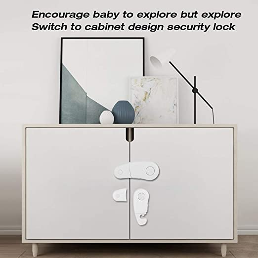 3//1Toddler Baby Kids Child Safety Lock Proof Cabinet Drawer Fridge Cupboard Door