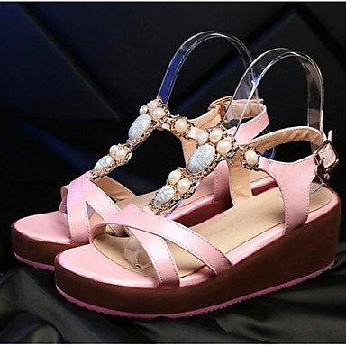 Frauen 039 s Sandalen Komfort PU Sommer Herbst Casual Comfort Rot Pink Blau Weiß 3-in-3 3 4 inBlushing PinkUS 4-4,5 EU 34 UK 2-2,5 CN33