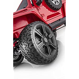 SPORTrax-Awesome-4WD-Kids-Ride-On-Vehicle-Battery-Powered-Remote-Control-wFREE-MP3-Player-Red