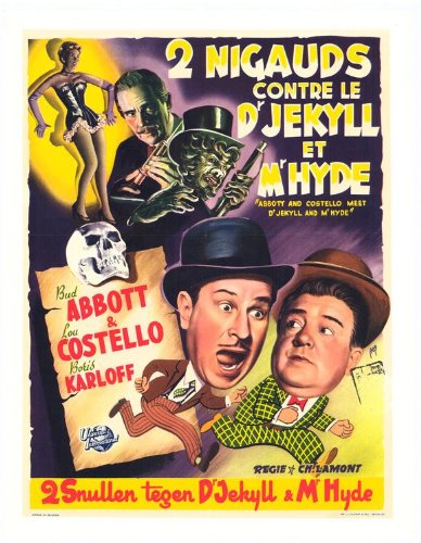 Abbott & Costello Meet Dr Jekyll & Mr Hyde Poster Movie Belgian 11x17 Bud Abbott Lou Costello