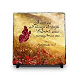 I Can Do All Things Through Christ Who Strengthens Me Philippians 4:13 (11.5X11.5, WEB) | Superior Religious Inspirational Home Décor By InspiraGifts Christmas Gift | Christian Plaque Review