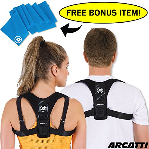 Posture-Corrector-for-Women-Men-and-Kids-FREE-Resistance-Band-for-Upper-Pain-Relief-Universal-Adjustable-and-Comfortable-High-Back-Support-Posture-Brace-Unisex-Medical-Orthopedic-Braces