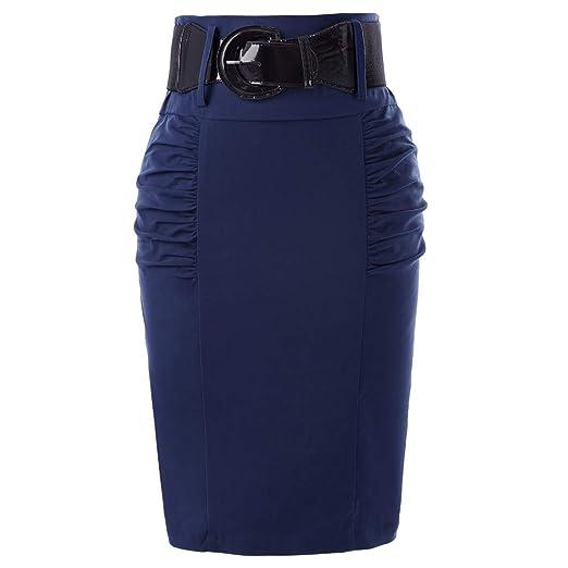 QZBTU Faldas Mujer Faldas Lápiz Falda Mujer Falda De Punto ...