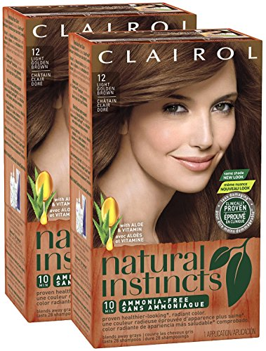Clairol Natural Instincts, 012, Toasted Almond, Light Golden Brown, 2 pk