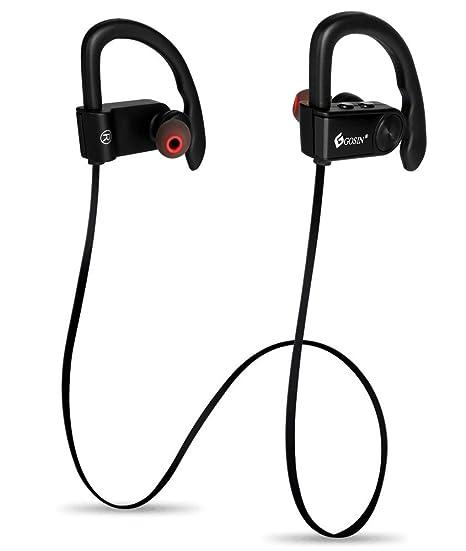 Gosin® Cuffie Bluetooth Auricolari In-Ear Bluetooth Sport 4.1 senza fili  con Microfono con auricolari stereo ... 383950e8cd49
